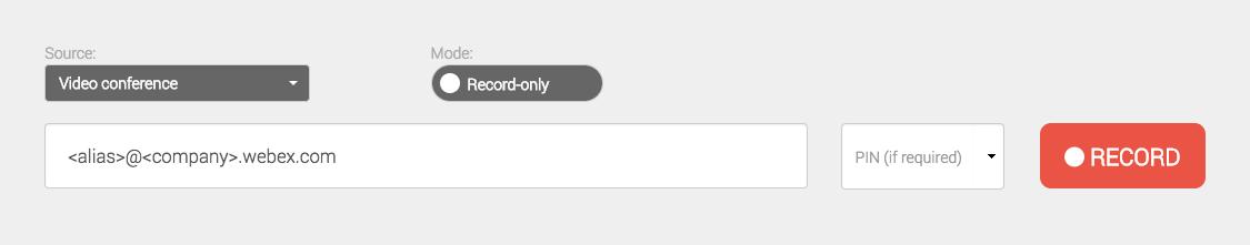 Enter SIP URI of your Cisco WebEx room
