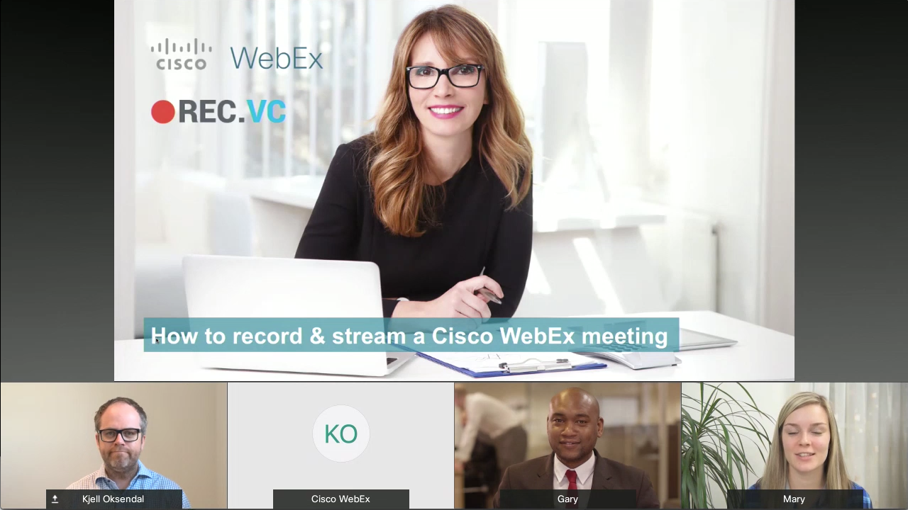 Cisco WebEX recording without BFCP